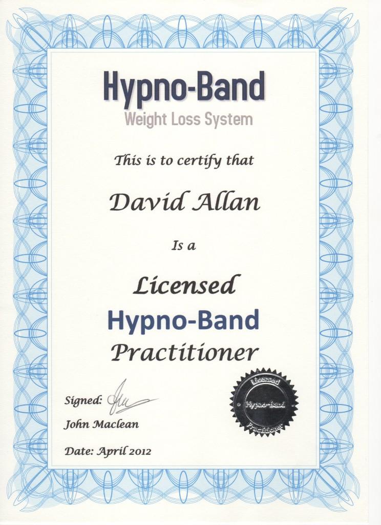 HypnoBand Certificate Apr2012