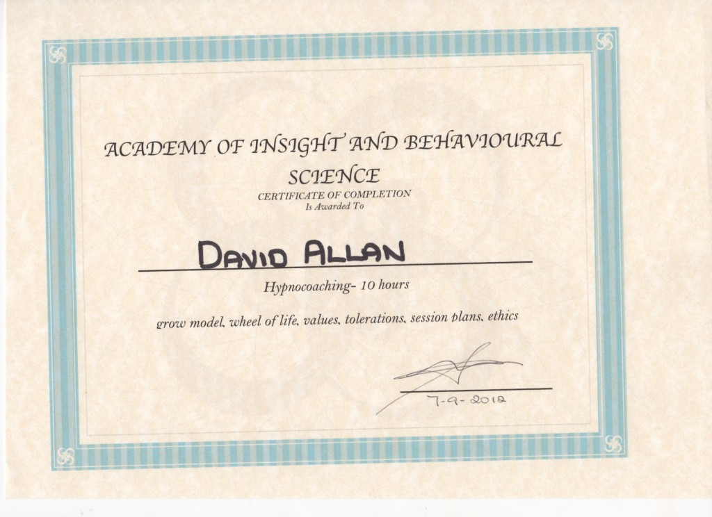 HypnoCoaching Certificate Sept2012