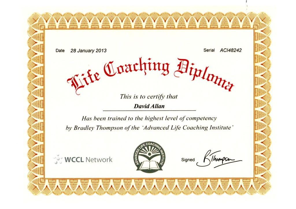 Life Coaching Certificate Jan2013