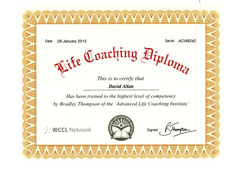 Life Coaching Certificate Jan2013