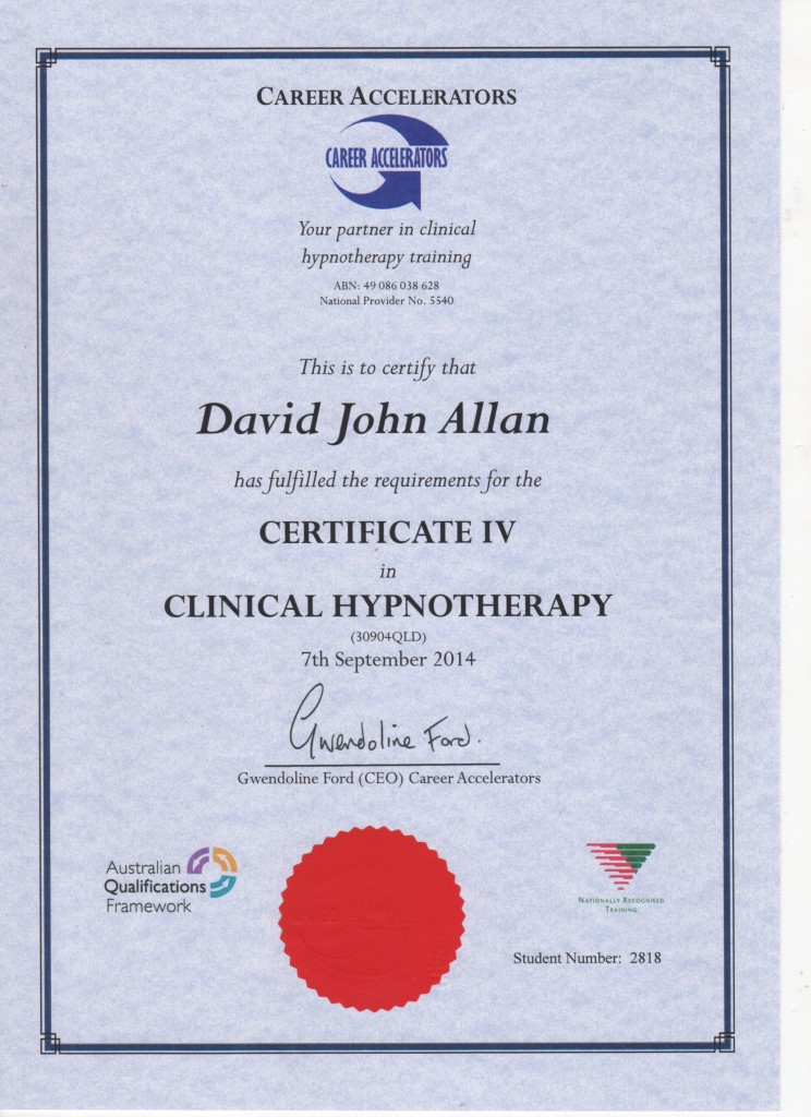 Cert IV Clinical Hypnosis